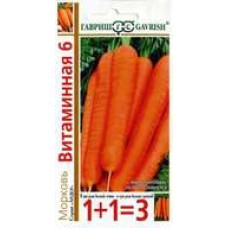 Морковь Витаминная 6, 4г серия 1+1