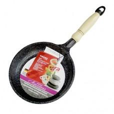 Сковорода 200/40мм с деревян. ручк. АП(темн.мрамор)