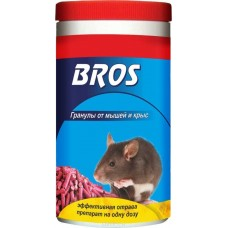 BROS Гранулы от крыс и мышей (банка с дозатором) 250г