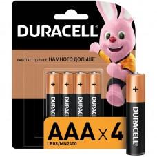 Батарейка Duracell Alkaline мизин R3 (блист.4шт.)