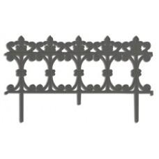 Заборчик садовый Рококо пластиковый