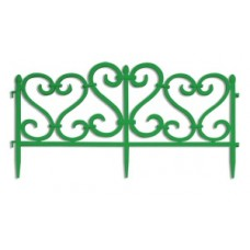 Заборчик садовый Узор пластиковый