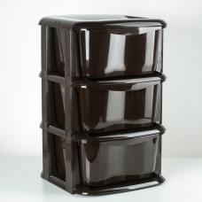 Комод 3 секц Домовой шоколадный