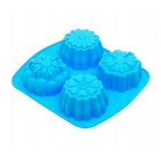 Форма для выпечки силиконовая №1  4 кекса 15,5х14,3см