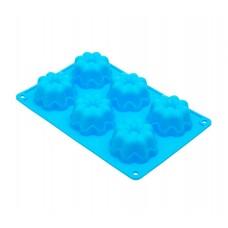 Форма для выпечки силиконовая №6  6 кексов 26х17,5х3,5см