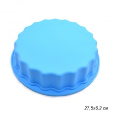 Форма для выпечки силиконовая №1  КРУГ фигурный 27,5х6,2см