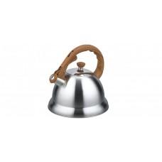 Чайник метал.3,2л со свист.бакел.руч..корпус матовый с зерк.полосой ВК-S350