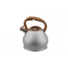 Чайник метал.3л со свист.нейл.руч..корпус серый мрамор WR-5052