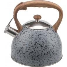 Чайник метал.3л со свист.нейл.руч..корпус серый мрамор WR-5060