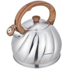 Чайник метал.3л со свист.корпус ребр. Taylor VS-88301