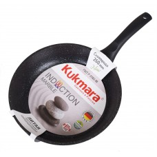 Сковорода 280мм с ручкой (темн.мрамор) АП Marble Induction