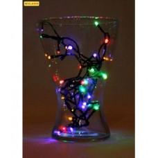 Гирлянда электр. 50 разноцветных ламп,3,5м,прозрачн.нить,8 режимов