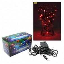 Гирлянда электр. 50 красных ламп,3,5м,тёмн.нить,8 режимов
