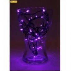 Гирлянда электр. 100 фиолетовых ламп 9м,тёмн.нить,8 режимов