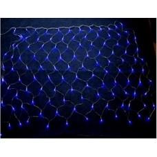Гирлянда электр. Сетка 1,5х1,5м,144 синие лампы,прозрачн.нить,8 режимов