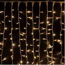 Гирлянда электр. Занавес 1,4х1,4м, 80 жёлтых ламп,прозрачн.нить,8 режимов