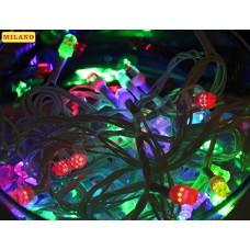 Гирлянда электр. 100 средних разноцв.ламп 9м,прозрачн.нить,8 режимов