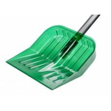 Лопата для снега 430х420см из поликарб.с черенк.(зелёный)