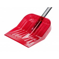 Лопата для снега 430х420см из поликарб.с черенк.(красный)