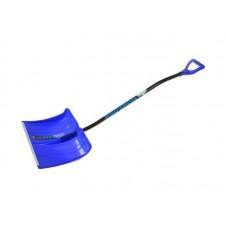 Лопата для снега 500х375 пласт.МОНБЛАН с эргоном.алюм.чер.и V-р.