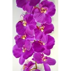 Орхидея Фаленопсис одиночная фиолетовая (силикон,) h-124см  арт.16-0074