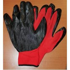 Перчатки Нейлоновые с нитрильно-латекс.покр.ЛАЙТ (красный )13класс(12 шт)
