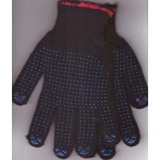 Перчатки пш двойные с ПВХ ТОЧКА Осень  (5)