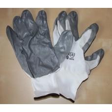 Перчатки Нейлоновые с нитрильно-латекс.покр.ЛАЙТ серый 13класс(12 шт)