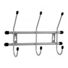 Вешалка настенная 3 крючка (серый металлик)