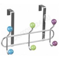 Вешалка для одежды навесная на дверь 6 крючков Конфетти (18,5х27х9,5см) КТ-ВНД-04