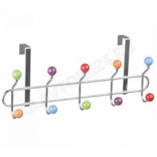 Вешалка для одежды навесная на дверь 10 крючков Конфетти (18,5х45х9,5см) КТ-ВНД-08